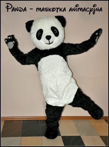 tematyczne animacje dla dzieci. maskotka animacyjna panda