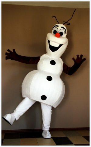 maskotka animacyjna Olaf z Krainy Lodu