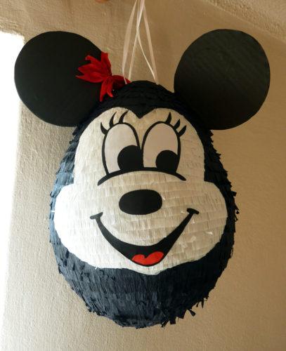 piniata z cukierkami, piniata myszka minnie, piniata na urodziny